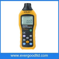 Wholesale Tachometer Lcd Display - Wholesale-Non-Contact LCD Display Digital Tachometer Test Meter Contagiros De Rpm HYELEC MS6208B Air Flow Speedometer