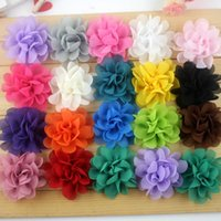 Wholesale Center Design - 20 Design Free shipping Fabric flowers with center flat back accessories for garment hair band shoe Clthing Flowers accessories E1101
