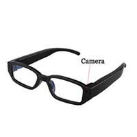 Wholesale Digital Video Recoder - HD 720P Mini Spy Hidden Glasses Camera Spy Eyewear Camera DIgital Video Recoder Portable Security Camcorder Mini Sunglasses DVR