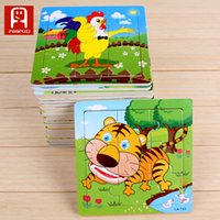 Wholesale Good Jigsaw - Good quality wood material children education toys unisex animal pattern Jigsaw Puzzle gift puzzles for children