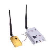 Wholesale Wireless Camera Av Transmitter - Digital Camera VCD DVD Players AV Audio & Video Transmission System Sender 1.2G 1500mW Wireless 8CH Transmitter 12CH Receiver