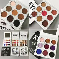 Wholesale Eyeshadow Palette Style - 3 Style Kylie Jenner Eyeshadow Kyshadow 9colors Pressed Powder Eye Shadow the Bronze Palette + Burgundy + Purple Palette Kylie Cosmetics