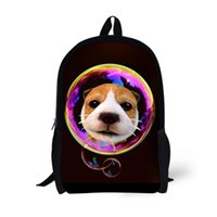 FORUDESIGNS Cute Printing Animal Dog Cat Crianças Mochilas Personalizado Teenager Girls Bagpack para School Unique <b>Kids Daypack</b>