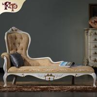 ingrosso mobili antichi in legno massiccio-Chaise Lounge di lusso, mobili classici francesi, chaise longue in legno massello di lusso classico europeo antico, mobili in legno massello. Spedizione gratuita