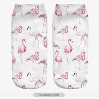 Wholesale Flamingo Socks - Wholesale-fashion 3D printed FLAMINGO PINK Socks animal cute ankle funny unisex short socks low cut women