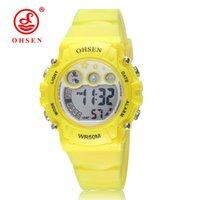 Herrenuhren Top Verkauf Ohsen Marke Neue Led Digital Display Mens Frauen Outdoor Sport Uhren 50 Mt Wasserdicht Tauchen Gelb Mode Uhr Hombre