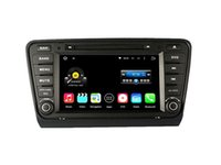 Wholesale Skoda Car Gps Dvd - 8'' Quad Core Android 5.1.1 Car DVD Player For Skoda Octavia 2014 With Stereo Radio GPS Multimedia Map Wifi BT
