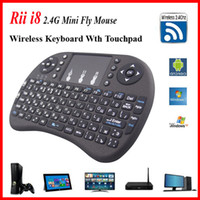 Wholesale fs remote for sale - Group buy 2016 Wireless Keyboard rii i8 keyboards Fly Air Mouse Multi Media Remote Control Touchpad Handheld for TV BOX Android Mini PC B FS