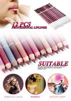 Wholesale wholesale wooden pencils - Professional Lipliner Pencil Wooden Blend 15CM Makeup Pink Lip Liner Waterproof Lipstick Lip Pencil Pen Snow White 28 colors available