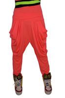 Wholesale Neon Harem Pants - 2016 New Fashion Brand Jazz harem women hip hop pants dance spring and summer loose neon pleated candy colors sweatpants