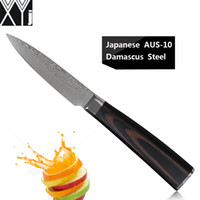 """Wholesale Best Paring Knives - XYJ brand fine 3.5 inch paring knife Japanese Aus-10 steel damascus kitchen knives 3.5"""" fruit knife best professional chef knife"""