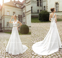 Wholesale Ruffle Empire Waist Wedding Dress - 2017 Vintage Modest Full Lace Wedding Dresses Capped Sleeves Empire Waist Corset Plus Size Pregant Beach Country Style Bridal Gowns