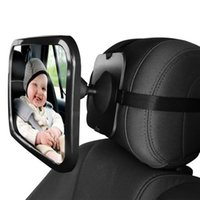 Wholesale Rear Child Seat - Adjustable Wide Car Rear Seat View Mirror Baby Child Seat Car Safety Mirror Monitor Headrest Car Interior mirror