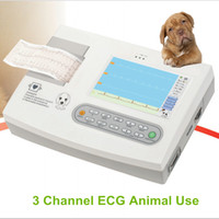 Wholesale Veterinary Animals - free shipping Animal use three channel 7in ecg EKG, dog, hose, cat Electrocardiograph, veterinary Machine
