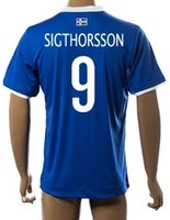 Wholesale Wholesale Thai Quality Soccer Uniforms - customized Iceland 9 sigthorsson Thai Quality Soccer Jersey shirt,discount Cheap 10 g.siurdsson Football Jerseys Uniforms,mens Soccer Wear