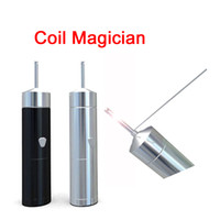 Wholesale Pole Electrical - New PilotVape Coil Magician Electrical Coil Jig Tool Heat Wire Rolling Automatically Coil Jig for RDA RTA with 4 coiling poles DHL FJ706