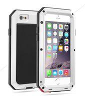 Wholesale Iphone5 Aluminium Cover - wholesale Waterproof Portable Aluminium +Gorilla Glass + Silicone Phone Case for iPhone5 5s 5c 6 6s 4.7 plus 5.5 inch Back Metal Cover case