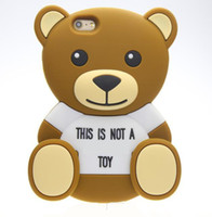 Wholesale teddy bear phone cases online - 3D teddy bear Cartoon animals Cute Toy brown teddy bear silicone case For iphone s s SE plus plus Cell phone case