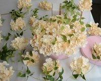 hot rod dekorationen großhandel-Mode Hot Luxury Künstliche Hortensie Blume mit Blume Rod DIY Silk Hortensien Zubehör für Hochzeit Dekoration