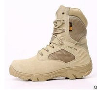 Wholesale Desert Special Combat Boots - 2017 Winter Autumn Men Military Boots Quality Special Force Tactical Desert Combat Ankle Boats Army Work Shoes Leather Snow Boots