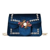 Wholesale Mini Pewter - 2017 New Antumn fashion flap chain shoulder bags luxury designer handbags diamante rivet brand women handbags