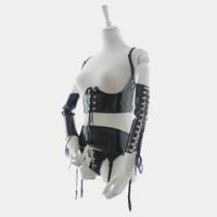 ingrosso cintura di legante-Nuovo Design Sexy Lingerie Sexy Tuta in pelle Bdsm Abito in pelle Dominatrix Costume Binder T-Back Reggicalze per il sesso Gioca B0402027