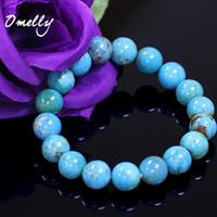Wholesale Quartz Gemstone Bead Strand - Blue Turquoise,Natural Semi-Precious Stone Beads High Quality 6mm 8mm 10mm Bead Stone Beaded Bracelets Crystal Gemstone Jewelry Wholesale