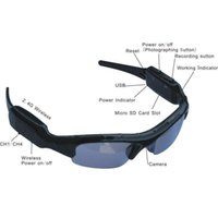 Wholesale Solid Hd - HD Cam Sun Glasses Camera DVR DV Video Surveille Camcorder Security VC132 Free shipping Hot sale