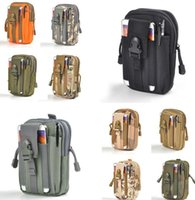 Wholesale military bags online - Sport Molle Waist Pouch Phone Tactical Waist Bag Running Hiking Wallet Pouch Outdoor Military Army Bag Pouch KKA2875