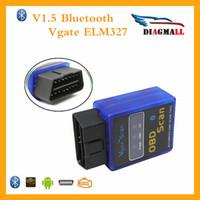 Wholesale Code Vgate Bluetooth - Hot Sales Vgate ELM327 OBD2 Bluetooth Vgate Scanner OBDII ELM 327 V1.5 Support J1850 Code Reader