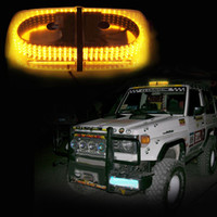 12v levou mini luz estroboscópica venda por atacado-4 PÇS / LOTE Âmbar 240 Telhado Top Aviso de Perigo de Emergência Flash LED Beacon Strobe Light Mini Light Bar