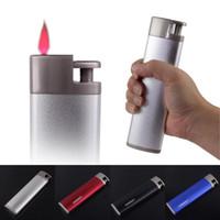 Wholesale Gas Volume - Top Quality Durable Honest Metal Big Gas Volume Hot Pink Jet Flame Windproof Cigarette Cigar Lighter