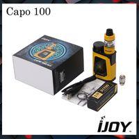 Wholesale Capo Wholesale - Authentic IJOY CAPO 100 with Captain Mini TC Kit with CAPO 100 Box MOD & Captain Mini Subohm Tank & A 3750mAh 21700 Cell