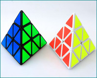 Wholesale Triangle Puzzle Cubes - 2016 Brand New Triangle Pyramid Pyraminx Magic Cube Speed Puzzle Twist Cubes Educational Toys