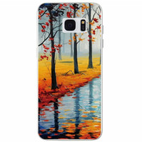 Wholesale Scenery Trees Painting - Luxury 3D Oil Painting Soft TPU Case Tree Love Woman Silicone Scenery Sunset Colorful For Samsung Galaxy S7 Edge Plus G930 G9300 G9350 Skin