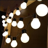 Wholesale Black Light Led Party - 10m 38leds led string light ball AC 220V Outdoor for Christmas Party festival Decoration Black Wire white Warm white