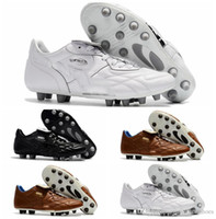 Wholesale Cheap Soft Ground Soccer Cleats - 2018 original soccer cleats King Top M.I.I CHROME FG Kangaroo leather fg soccer shoes mens soft ground football boots cheap black