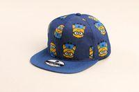 Wholesale Small Brim Hats Men - 2015 New cartoon Simpson small yellow baseball cap hat men and women who hip-hop hat flat brimmed hat hip-hop hat cap new fashion
