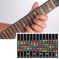Wholesale Electric Guitar Stickers - Guitar Fretboard Notes Map Labels Sticker Fingerboard Fret Decals for 6 String Acoustic Electric Guitarra