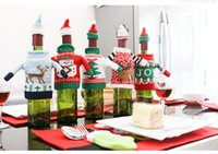 Wholesale Product Trees - Selling Christmas Tree Elk Knitted Sweater Snowman JOY Bottle Set Table Decoration Creative Gifts Holiday Products