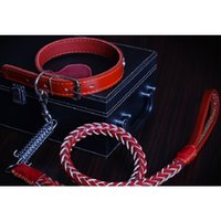 Wholesale Genuine Leather Dog Collars - Hot sale Dog accessories Large Dog Collars Leashes suit Genuine Leather Dog Collars and Genuine Leather Leashes Free shipping