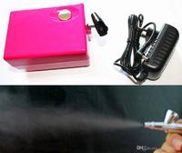 Wholesale Black Gun Paint - AirBrush Compressor 0.4mm Needle makeup Kit for Face Body Paint Spray Gun Cake Nails Temporary Tattoo