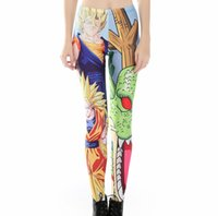 Moda Donna Leggings Classic Anime Dragon Ball Z Goku Vegeta Stampa Pantalone Ladies Smooth Material Fitness Legging Jeggings