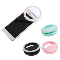 Portable Universal Selfie Ring Flash Lampe Téléphone portable LED Fill Light Selfie Ring Flash Eclairage Appareil photo Photographie pour Iphone Samsung