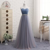 Real Photos A-Line Square Lovely Sweetheart Tulle A Line Bridesmaid Dresses Fitted 2018 Long Bridesmaid Gowns Lace Up Real Photo