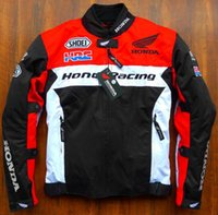 Wholesale Riding Jackets - Free Shipping New Arrive Motorcycle Racing Winter Jacket with Cotton Underwear Jacket Protective Clothing Rider Anti Riding Coat for HONDA