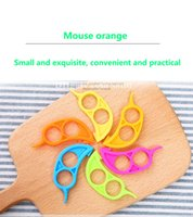 Wholesale Plastic Orange Peelers - New Mouselet Orange drive Creative kitchen gadgets plastics Orange orange stripper
