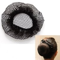 Solid Hair Net femmes invisibles Bun Cover cheveux Snood Ballet Dance Skating Crochet hairnet 20pcs Livraison gratuite