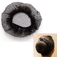 Wholesale Wholesale Bun Holder - Solid Hair Net women invisible Bun Cover hair Snood Ballet Dance Skating Crochet hairnet 20pcs free shipping