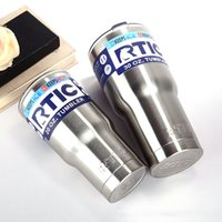 Wholesale Hot Cool Water - Hot Selling 30oz 20oz RTIC Cups Tumbler Cups Car Cups Stainless Steel Sharp as YT Mugs Cooler Bilayer Insulation Water Bottles Mugs